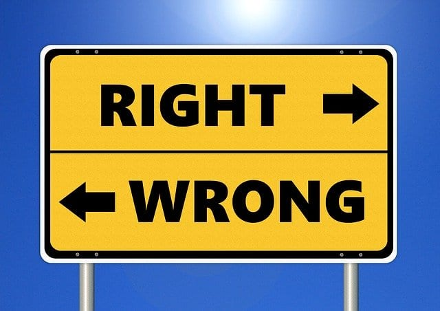 Ethics Right Wrong Ethical Moral